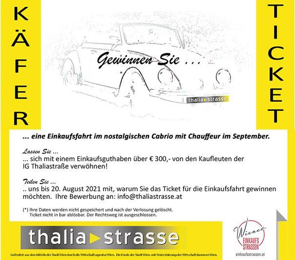 Gewinnticket Oldtimer VW Käfer Cabrio